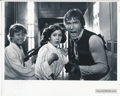 Star Wars - Publicity still of Harrison Ford, Mark Hamill & Carrie Fisher