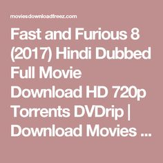 the fast and furious 8 2017 dual audio movie download in 720p bluray