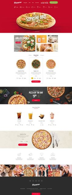 20 web design inspiration for the modern website template featuring beautiful full-width photos, dynamic click-through lists, and a subtle bohemian vibe. Everything about this design can be changed in this website design inspiration Design Websites, App Design, Food Web Design, Logo Design, Site Restaurant, Restaurant Website Design, Pizza Restaurant, Ecommerce Webdesign, Webdesign Layouts
