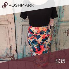 Cassie skirt Floral multi color LuLaRoe Skirts Midi