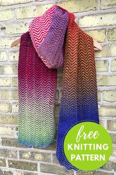 Point Beach Scarf Free Knitting Pattern