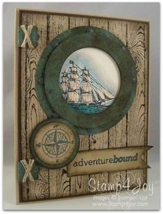 Adventure Bound  by Rebecca Mayse,  Love this set! Here's a card I made earlier this month using The Open Sea, Hardwood, and Project Life Remember This. Enjoy!
