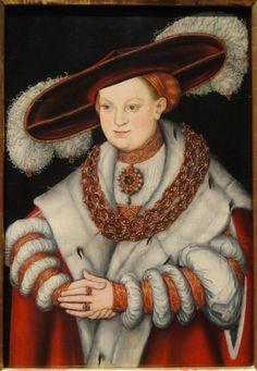 1529 Lucas Cranach the Elder - Portrait of Magdalena of Saxony, wife of elector Joachim II of Brandenburg