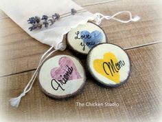 Mom magnets Set of 3 Mother's Day gifts Mom by TheChickenStudio
