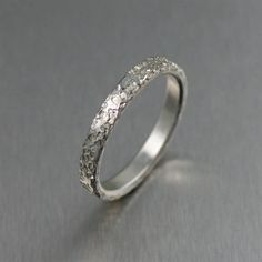 3mm Texturized Stackable Sterling Silver Band Ring by johnsbrana, $65.00