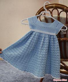 beautiful crocheted dress for little girls | make handmade, crochet, craft