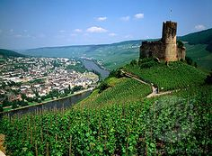 landshut castle overlooking bernkastel-kues, germany. yes, i've been there. it's gorgeous!