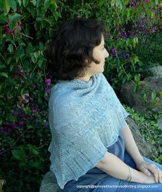 "Sunny with a Chance of Knitting: New Design: Shawl ""Fly me to the moon""."