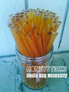If you haven't tried a honey stick yet, you are missing out!  These little treats have been a secret snack for many doulas and I'd love to prove my case for why