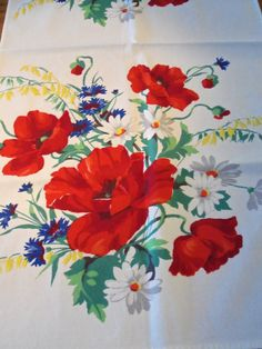 Vintage 1940's Printed Cotton Tea/Kitchen Towel