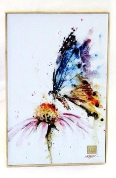 Garden visitor butterfly dean crouser prints mountain home collection watercolor cards, watercolor flowers, watercolour Butterfly Painting, Butterfly Watercolor, Butterfly Art, Watercolor And Ink, Watercolour Painting, Painting & Drawing, Watercolors, Butterflies, Painting Inspiration