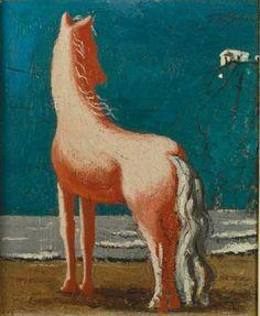 "Giorgio De Chirico - Cheval Méditerranée (""Mediterranean Horse""), 1928"