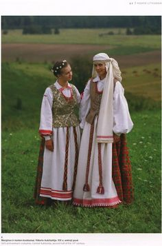 Folk costumes of Aukštaitija, Lithuania