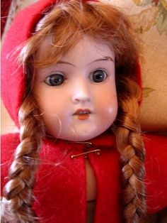 Lady in red... She looks so much like my Doll from my Grandma - Many years ago!! Still have her & appreciate having her!!