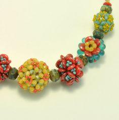 Beaded Bead bijoux bricolage PDF motif, collier, fleur de prunier orné de perles perles