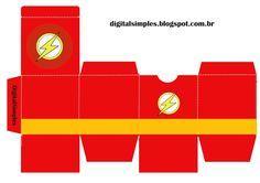 Caixa Cubo Dupla com Personagens - Convites Digitais Simples Fiesta Batman Lego, Lego Batman Party, Superhero Birthday Party, 4th Birthday Parties, Flash Cake, The Flash Season, Ideas Para Fiestas, First Birthdays, Free Printables