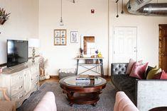 Velvet Sofa, French Provincial, Entertainment Center, Gallery Wall, Entertaining, Living Room, Home Decor, Entertainment Centers, Decoration Home