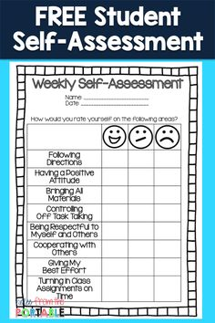 My Weekly Behavior Checklist For Students Social And Academic