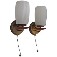 Mid Century Modern German Sconces | From a unique collection of antique and modern wall lights and sconces at https://www.1stdibs.com/furniture/lighting/sconces-wall-lights/