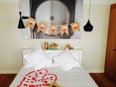 romantische Dekoration at B2 Boutique Hotel + Spa, eine gute Idee für den Valentinstag!