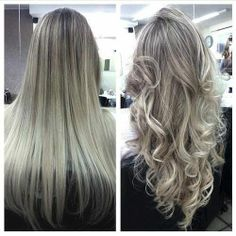 silver blond highlights