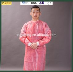 Disposable Red Laminated Surgical Isolation Gown