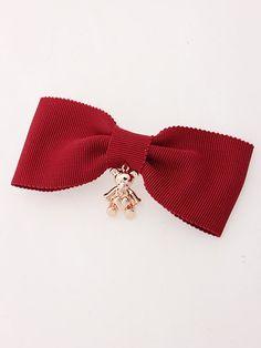 Bear Charm with ribbon Valletta (Pink)