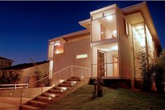 The Redondo Beach Shipping Container House by Peter DeMaria Design Associates is a single-family custom home design utilizing recycled ISO cargo containers. The Redondo Beach Shipping Container Hou… Building A Container Home, Storage Container Homes, Container Buildings, Container Architecture, Cargo Container, Container Houses, Storage Containers, Container Van, Sea Containers