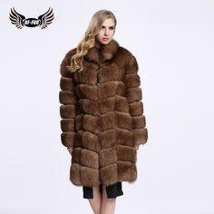 >> Click to Buy << BF FUR 2016 Winter New Style Warm Real Fur Coats Fox Fur Coat Long Sleeve Fur Coats Long Overcoat Womens Coat BF-C0116 #Affiliate