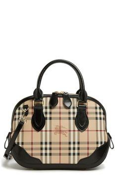'Haymarket Check' Satchel by Burberry.