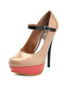 Charlotte Russe - Patent Color-Block Mary Jane Pump    You are VERY on trend, my friend. Just sayin'.