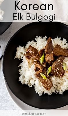 This Korean Elk Bulgogi is a wild game twist on this classic Korean dish. It's made with a delicious elk tri-tip sirloin roast and simplified ingredients, making it the perfect elevated wild game recipe to add to your weekly menu. Elk Meat Recipes, Wild Game Recipes, Moose Recipes, Venison Recipes, Sirloin Tip Roast, Beef Tenderloin Roast, Pork Roast, Coffee Rub Recipe, Roast Chicken And Gravy