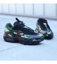 buy online d728c 5e4a2 Air Max 95 Camo Green Black Trainer Outlet Black Trainer Shoes, Cheap Air  Max 95