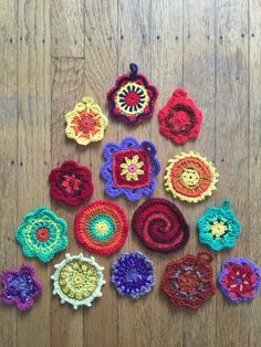 Dineke's Mini Crochet Mandalas (with free pattern) + Reaching Out to Colleagues Who Are Struggling