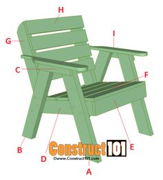 Lawn Chair Plans is part of Wood chair diy - Lawn chair plans and matching side table, includes illustrations, measurements, shopping list, and cutting list Easy DIY weekend project Adirondack Chair Plans, Outdoor Furniture Plans, Lawn Furniture, Woodworking Furniture Plans, Easy Woodworking Projects, Fine Woodworking, Woodworking Equipment, Wood Projects, Woodworking Apron
