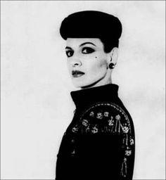 Paloma Picasso dressed in Yves Saint Laurent, Paris, 1979.