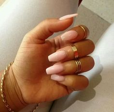 ○○ Pink nude coffin nails○○