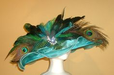 Turquoise and Peacock feathers, and a little bling! PERFECTION