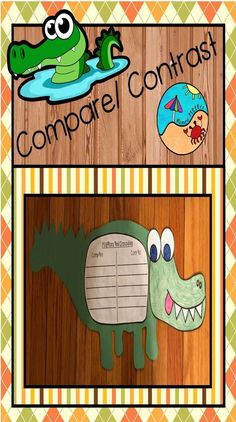crocodiles Great for Summer School Project!Concept: Same and DifferentHow are alligators and crocodiles the same and different?Compare and contrast them! Summer School Activities, September Activities, New Years Activities, First Grade Activities, Writing Activities, Fun Activities, Spring Activities, Learning Resources, First Grade Projects