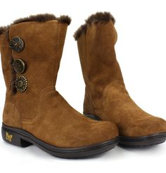 Alegria Shoes - Nanook Hot Cocoa Suede Boot, $159.95 (http://www.alegriashoes.com/products/nanook-hot-cocoa-suede-boot.html)