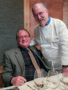 Gerry Dawes with chef Pedro Subijana at our table at Akelarre.