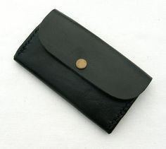 ID Train Pass Leather Bus Travel Card Holder With Zip Black Oyster