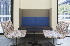 CHILL chairs & CUSTOM booth seating @ UWA Student Services (fit-out by Burgtec)