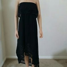 Summer Boho Long Maxi Dress Black Sleeveless Summer Dress in variety of sizes. Made in India.  The weaving imperfections and shade variations are characteristic of hand crafted cloth.  -Hand wash in cold water  -Dry in Shade  -100% Peruvian Cotton Dresses Maxi