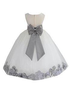 Wedding Pageant Flower Petals Girl Ivory Dress with Bow Tie Sash 302a (16, mercury) ekidsbridal http://www.amazon.com/dp/B015GCVY0G/ref=cm_sw_r_pi_dp_2Kwhwb0B62PYC