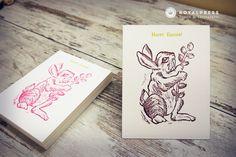 letterpress happy easter card