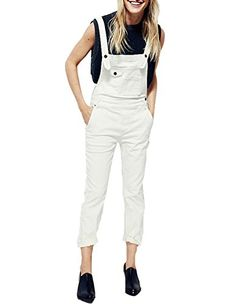 72195a99b399 Womens Working Style Pockets Casual Basic Overall Long Jumpsuit