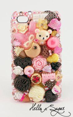 Rilakkuma Loves Sweets  Decoden Iphone 4/4S Case  by HELLOxSUGAR, $60.00