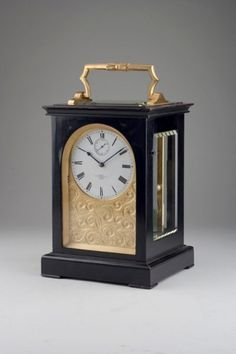 A Fine Giant English Carriage Clock By Dent, London. circa 1857