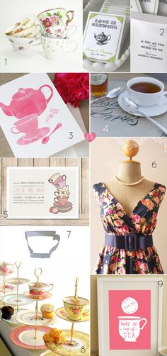 Planning a Bridal Shower - Tea Theme (via EmmalineBride.com)
